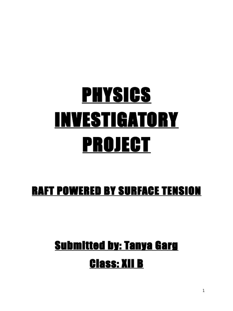 190703637 Physics Investigatory Project For Class 12th Properties