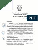 Resolución N°005-2016-SINEACE-CDAH-P