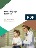 KGHM Ajax Human Health summary