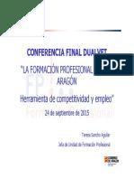 Conferencia 2015 La Formacion Profesional Dual en Aragon