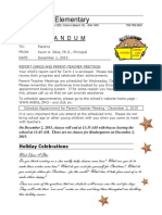 to parents december 1 2015 - report cards and holiday events  web