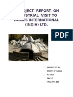 industrial visit to domes international