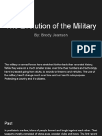 the evolution of the military