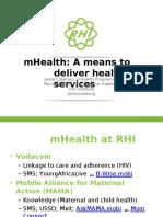 Wits RHI MHealth Programmes - 19 Oct 2015