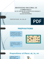 Presentation 3 Preposition in on At