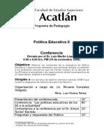 conferencia DR LUIS MORFIN PEM II.doc