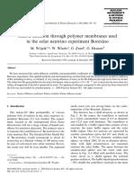 Radon Diffusion Through Polymer Membranes - Wojcik, Zuzel