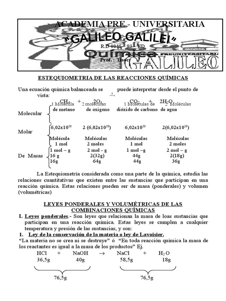 Estequiometria II