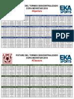 Fixture a Apertura-Clausura 2016
