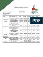 Weekly Curriculum Jan (Wk 3)