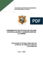 1.Lineamienos Para Una Politica de Calidad Autoevaluacion y Acreditacion (1)