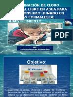 presentacion Derminacion de Cloro Residual