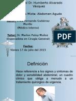 Abdomen Agudo - Revision Bibliografica