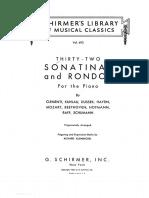 32 Sonatinas y Rondos Para Piano - Clementi