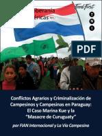 Documento sobre el Caso Curuguaty y conflictos campesinos