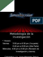 Metodología de La Investigación Introduccion Al Curso