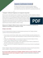 DCI Consulting - Programa de Trabajador Calificado Federal