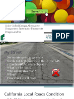 Color Coded Alternative Comparison Systems for Pavements