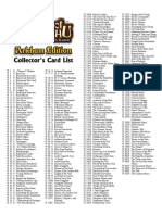 Call of Chthulhu CCG 1E - Checklist 1 Arkham Edition