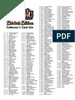 Call of Chthulhu CCG 1E - Checklist 4 Eldritch Edition