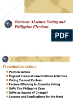 06 Overseas Absentee Voting and Philippine Elections - Dr. Jorge v. Tigno
