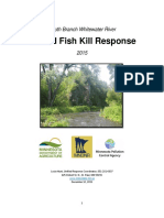 MnDNR South Branch Whitewater River Unified Fish Kill Response 2015
