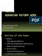 07 Making Agrarian Reform Work - Dr. Ernesto M. Ordonez