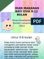 Pemberian Makanan Pada Bayi Usia 0-12 Bulan