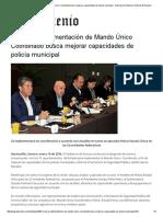 16-01-16 Sonora Implementación de Mando Único Coordinado busca mejorar capacidades de policía municipal - Noticias El Sexenio - Noticias El Sexenio
