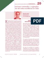 Las Adminsitraciones Comunales y Regionales y La Mantencion Del Orden Neoliberal en Chile