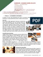 2014-2015 trvx recherches