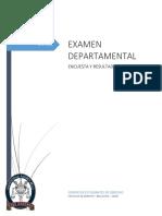 """Resultados Encuesta """"Examen Departamental - Enero 2016"""