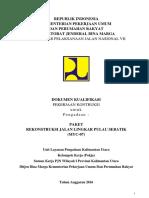 Dok. Tender Prakualisikasi Rekonstruksi Jalan Lingkar Pulau Sebatik (MYC-07)