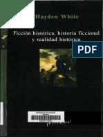 White Hayden - Ficcion Historica Historia Ficcional Y Realidad Historica
