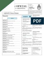 Boletín Oficial de la República Argentina, Número 33.298. 18 de enero de 2016