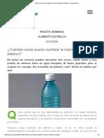 ¿Cuántas Veces Puedo Reutilizar La Misma Botella de Plástico_ - Ecoportal