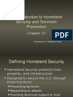 An Introduction to Homeland Security and Terrorism Prevention