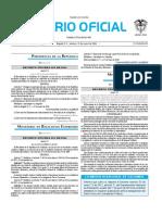 Diario oficial de Colombia n° 49.756. 15 de enero de 2016