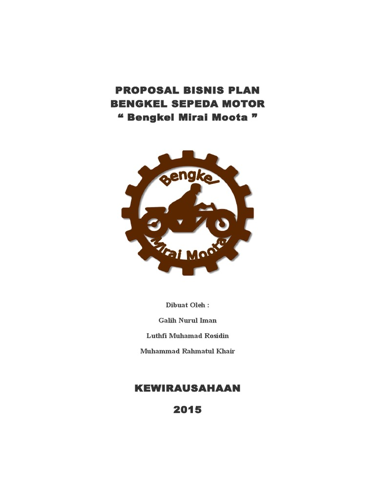 Contoh Proposal Usaha Bengkel Sepeda Motor - Berbagi ...