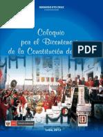 Coloquio Por El Bicentenario de La Constitución de Cadiz