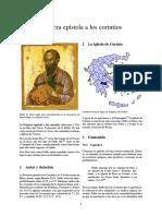 Primera Epístola a Los Corintios