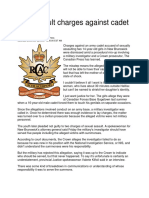 22 Dec 2007 - Sex Assault Charges Against Cadet Dismissed