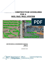 Design and Construction Guideline for soil nail wall