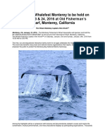 6th Annual Whalefest Monterey to Be Held on January 23 & 24, 2016.Doc