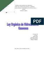 Ley Organica de Hidrocarburos Gaseosos