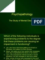 Chapter 13 - Psychopathology - Incomplete