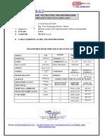 Informe Tecnico Del Transformador Trifasico Seco Encapsulado 400kva