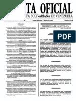 Sumario Gaceta Oficial 39.398