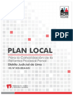 Plan Local Para La Consolidación de La Reforma Procesal Penal-Lima Centro