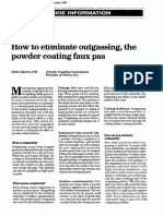 How to Eliminatdadde Outgassing, The Powder Coating Faux Pas